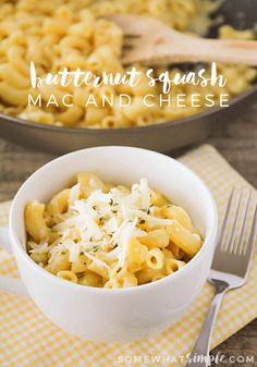 Butternut Squash Mac and Cheese - This creamy and cheesy butternut squash mac and cheese is the perfect hearty recipe for a fall evening!