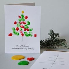 personalised finger paint christmas cards by twenty-seven | notonthehighstreet.com