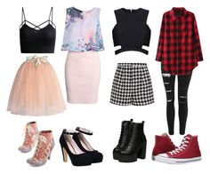 """""""Untitled #66"""" by bandsdestroyamylife on Polyvore featuring Chicwish, Irregular Choice, Boohoo, Emma Cook, Posh Girl, Converse, Topshop, women's clothing, women's fashion and women"""