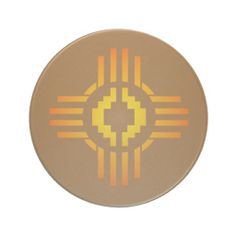 Zia Sun Sign Beverage Coasters
