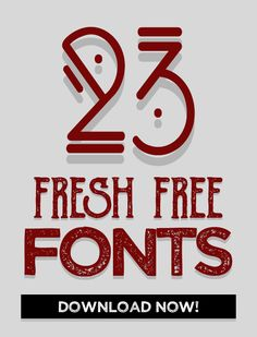 23 Fresh Free Fonts for Graphic Designers #freefonts #freshfonts #graphicdesign #handwritten #scriptfonts #typeface #typography #freebies