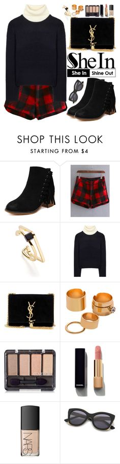 """""""Shein"""" by oshint ❤ liked on Polyvore featuring Acne Studios, Yves Saint Laurent, Chanel and NARS Cosmetics"""
