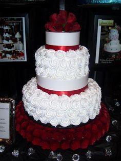 . Wedding Cake Red, Unique Wedding Cakes, Unique Cakes, Elegant Cakes, Beautiful Wedding Cakes, Wedding Cake Designs, Wedding Cupcakes, Beautiful Cakes, Amazing Cakes