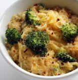 spag squash mac  spaghetti squash broccoli cheddar cheese parmesan