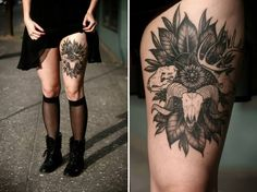 animal skulls tattoo #ink #tattoo