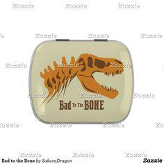 Bad to the Bone Candy Tin #dinosaurs #jurassic #trex #tyrannosaurus #rex