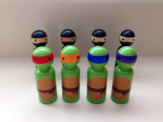 Teenage Mutant Ninja Turtles Peg Dolls