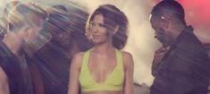 "Cheryl Cole in Tri-Color Brian Atwood ""Alima"" Platform Pumps"