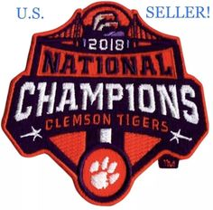 1a2704b7 2018 CLEMSON CHAMPIONS Patch Official Jersey NATIONAL CHAMPIONSHIP Iron  /Sew On #ClemsonTigers Support your