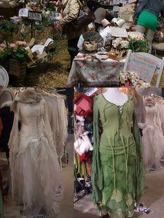 Fairy dresses - I really like the green dress.