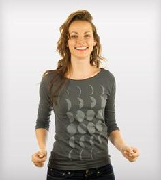 Moon Phases Boatneck Shirt