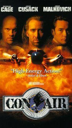 """""""CON AIR"""". (1993) NICHOLAS GAGE, JOHN CUSACK, JOHN MALKOVICH"""