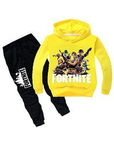 Fortnite Cotton Printed Hoodie Two Piece Sets Baby Hoodie, Cotton Boxer Shorts, Boys Joggers, Tracksuit Bottoms, Girls Fleece, Training Tops, Kids Pants, Kids Pajamas, Kids Boys