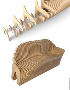 Diy Furniture Plans Wood Projects, Home Decor Furniture, Furniture Design, Cardboard Chair, Cardboard Furniture, Cnc Wood, Parametric Design, Diy Sofa, Wood Design