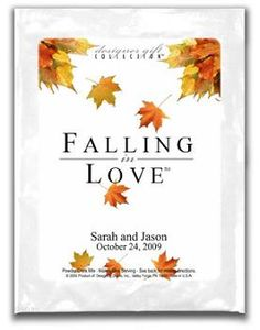 Cascading Leaves Falling In Love Cappucino or Hot Cocoa Favor $1.69