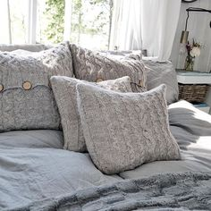 Hope you had a nice Monday! Just wanted to show you these pillow cases made by my mom they are just so beautiful Cozy Place, Bean Bag Chair, Pillow Cases, Your Style, Cottage, Throw Pillows, Mom, Nice, Girls