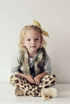 I love the basic styling of this little Mini Rodini girl.