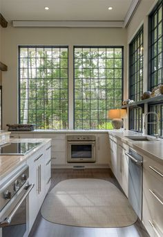 industial style kitchen factory windows