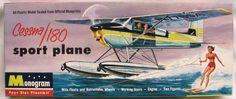 Monogram 1/41 Cessna 180 Sportplane on Floats - Four Star Issue, PA26-98 plastic model kit