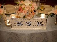 {Mr. & Mrs.} for the Head Table