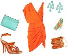 Orange fashion style clothes