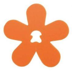 Clip déco fleur orange les 24 attaches forme fleur 5 cm, déco, wedding, party, fleur, mariage, baptême, accessoire dragées, baby shower