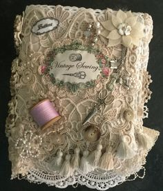 Vintage sewing themed lace book by Jean Wragg