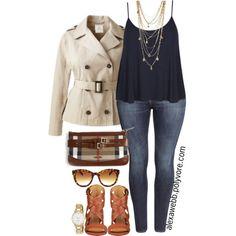 "#plus #size ""Plus Size - Spring Jacket"" by alexawebb on Polyvore"