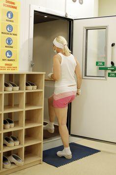 Wejście do kriokomory. #krioterapia, #cold, #health #cryotherapy