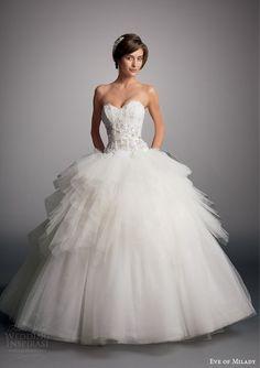 http://www.weddinginspirasi.com/2014/07/29/eve-of-milady-2014-boutique-bridal-collection/ eve of milady bridal 2014 strapless drop waist ball gown wedding dress #ballgown #weddingdress #fashion
