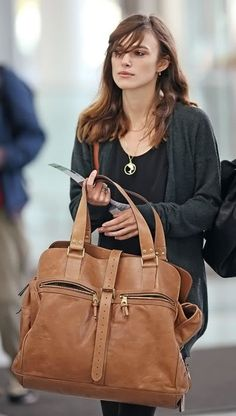 Keira Knightley and Mulberry Maxi Mabel Bag Photograph