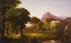 The Dream of Arcadia (1838) - Thomas Cole... - God of the Philosophers
