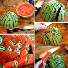 Watermelon Fries from Facebook (can't wait for Summer)