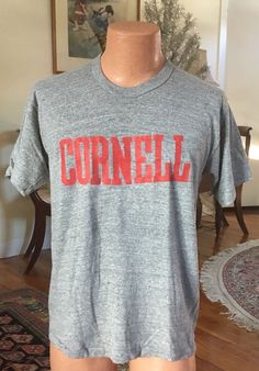 aeed4c66 CORNELL University 1970s Vintage Mens T-Shirt Jon Gould Andy Warhol XL 70s  | eBay