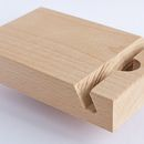 Make your own I-Pad holder out of wood.  Great idea for gifts.