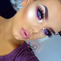Eye Makeup Tips.Smokey Eye Makeup Tips - For a Catchy and Impressive Look Flawless Makeup, Gorgeous Makeup, Pretty Makeup, Skin Makeup, Amazing Makeup, Makeup Eyeshadow, Purple Fairy Makeup, Fairy Eye Makeup, Purple Makeup Looks