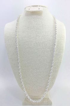 """mens/womens 5mm diamond cut rope chain 24"""" or 30"""" hip hop 925 sterling silver  #Unbranded #HipHop"""