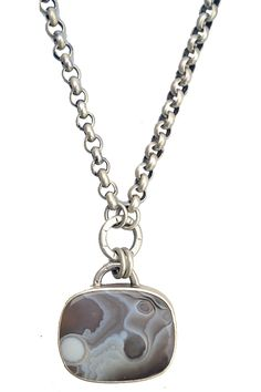 Electric guitar wonyx pendant stainless steel chain necklace for kevin necklace with botswana agate mozeypictures Gallery
