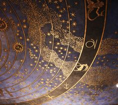 Zodiac ceiling in the Villa Stuck, Munich
