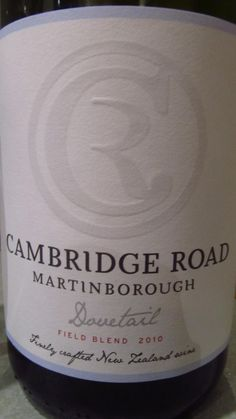 Cambridge Road from Martinborough, New Zealand. Grown biodynamically in their small boutique vineyard. and rather delish. Cambridge, Delish, Vineyard, Wine, Boutique, Bottle, Vine Yard, Flask, Vineyard Vines