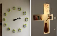 Check out this great wall clock, made up of twelve analog alarm clocks.