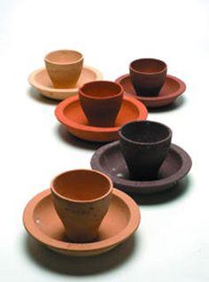 local clay, different tones