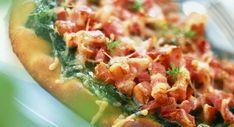 Pizza épinards lardonsVoir la recette >>