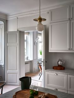 Grey Stuff, Kitchen Stories, Decoration, Future House, Kitchen Cabinets, Ceiling Lights, Table, Furniture, Plan