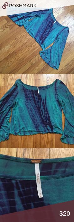 ✨FLASH SALE✨Free People Ashbury Top ✨FLASH SALE - TODAY ONLY ✨Free People Ashbury Top. Teal/Blue/Green/Purple Tie Dye. Long bell sleeve crop top. Size medium, but could fit small-large depending on how you like your fit since it's designed to be flowy (my mannequin is a size 2 for reference). Great condition - no flaws or holes.  Trades. Reasonable offers welcome.  Free People Tops Crop Tops