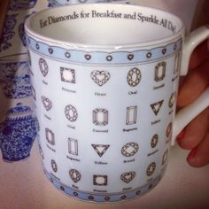 """""""Eat Diamonds for Breakfast and Sparkle All Day"""" Mug by Halcyon Days"""