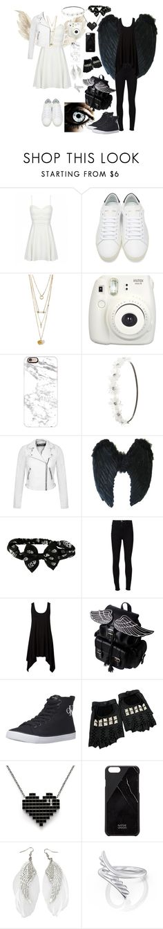 """""""Untitled #406"""" by dark-emo-kitty ❤ liked on Polyvore featuring Yves Saint Laurent, Fujifilm, Casetify, Charlotte Russe, Miss Selfridge, Frame, Calvin Klein Jeans, Rodarte and Native Union"""