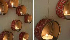 Porta candele fai da te da appendere a parete