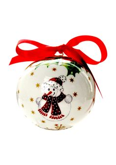 VILLEROY & BOCH  Toy's Ornament Ball with Snowman
