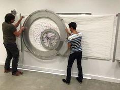"""""""Spiro"""" - A 5' diameter, wall mounted spirograph"""
